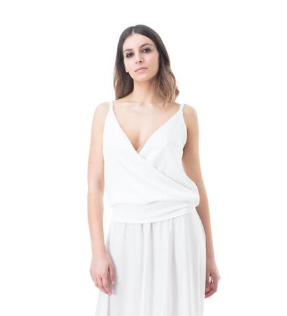 Top bianco , Abbigliamento, 13E2T1000TSBIANM, 002