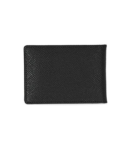 Portafoglio nero in pelle, Valerio 1966, 10A4T1708PENEROUNI, 002