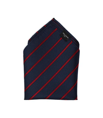 Pochette blu/rossa in pura seta , Accessori, 11I9TP001TSBLROUNI, 001