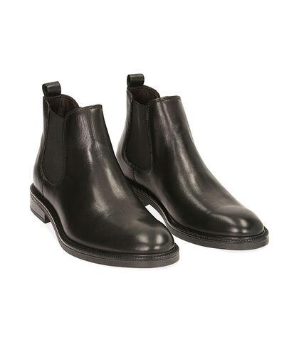 Chelsea boots neri in pelle di vitello, Valerio 1966, 1877T0608VINERO039, 002
