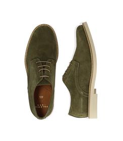 Stringate verde in camoscio, Valerio 1966, 1198T5610CMVERD040, 003 preview