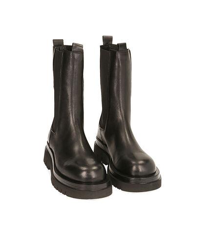 Chelsea boots neri in pelle , Valerio 1966, 1856T0203PENERO035, 002