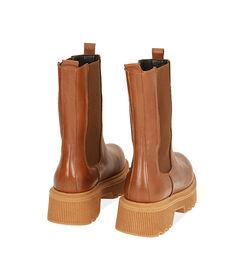 Chelsea boots cognac in pelle, tacco 5,5 cm, Valerio 1966, 18L6T4029PECOGN036, 004 preview