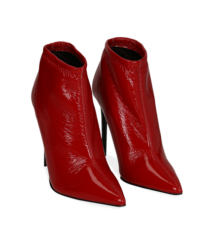 Ankle boots rossi in naplak, Scarpe, 1287T4368NPROSS035, 002