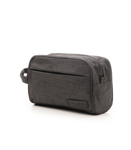 Beauty case grigio in cotone e nylon, Accessori, 10H9T6011TSGRIGUNI, 004