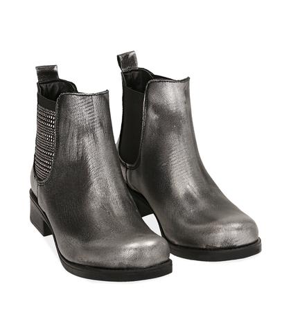 Chelsea boots canna di fucile in laminato , Valerio 1966, 1007T0003LMCANN035, 002