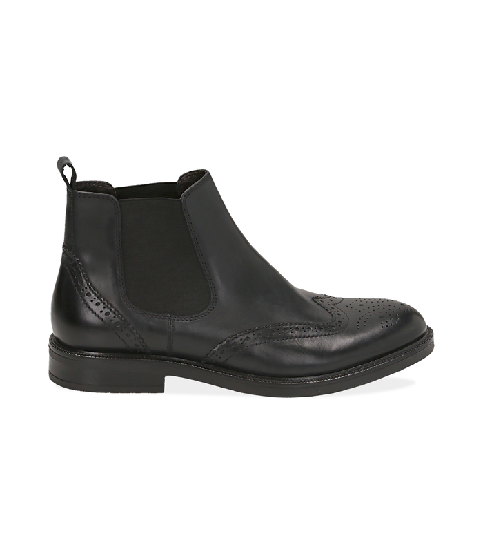 Chelsea boots neri in pelle di vitello, Valerio 1966, 1677T0609VINERO040