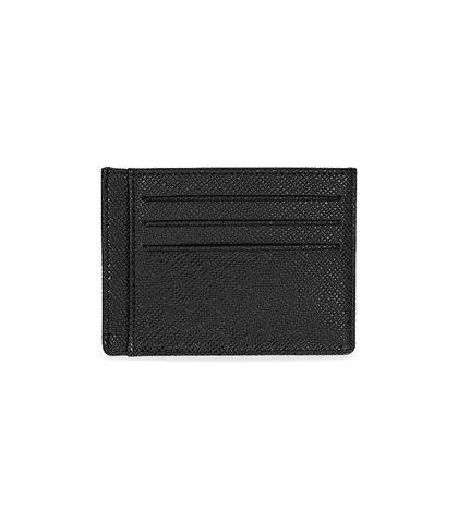 Portafoglio nero in pelle con logo embossed, Valerio 1966, 10A4T1734PENEROUNI, 002