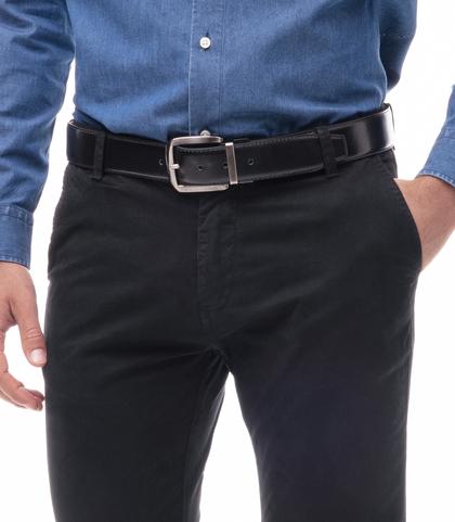 Cintura nera in eco-pelle, Accessori, 1064T6546EPNERO110, 002