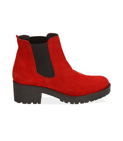 Chelsea boots rossi in camoscio, Valerio 1966, 1260T1116CMROSS035, 001