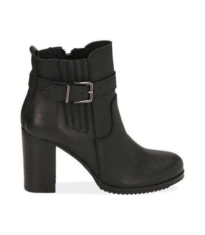 Ankle boots neroìi in pelle , Scarpe, 1087T0001PENERO035, 001