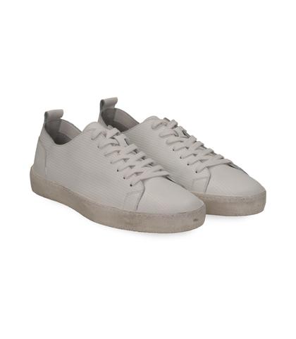 Sneakers bianche in pelle con suola bianca, Scarpe, 1377T8082PEBIAN040, 002