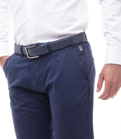 Pantaloni chino blu in cotone, Abbigliamento, 11G5T2071TSBLUE46, 002