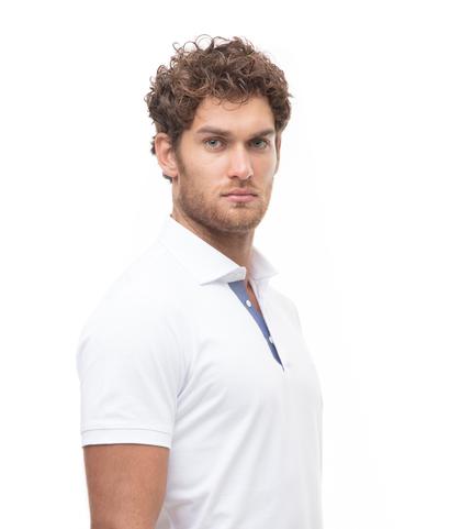 Polo bianca in jersey, Valerio 1966, 13I5T0130TSBIAN46, 002