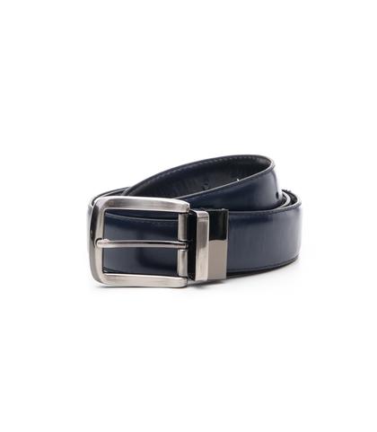 Cintura blu in ecopelle, Accessori, 1064T6545EPNEBL115, 001