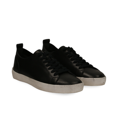 Sneakers nere in pelle con suola bianca, UOMO, 1377T8082PENERO040, 002 preview