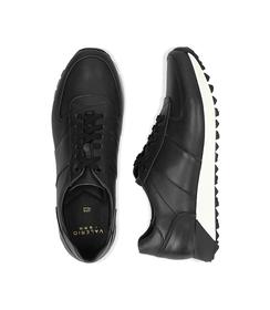 Sneakers nere in pelle con punta affusolata, Scarpe, 1195T5688PENERO040, 003 preview
