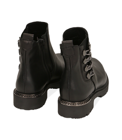 Ankle boots con catene neri in pelle, Valerio 1966, 1007T0006PENERO036, 004 preview