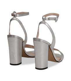 Sandali argento con cinturino alla caviglia, Scarpe, 13D6T0703LMARGE036, 004 preview