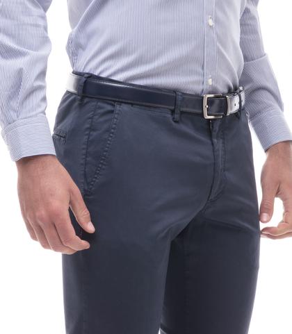 Pantaloni blu cotone raso, Abbigliamento, 13T2T6367TSBLUE44, 002