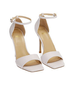 Sandali bianchi, tacco 10,5 cm , Valerio 1966, 1721T4210EPBIAN036, 002 preview