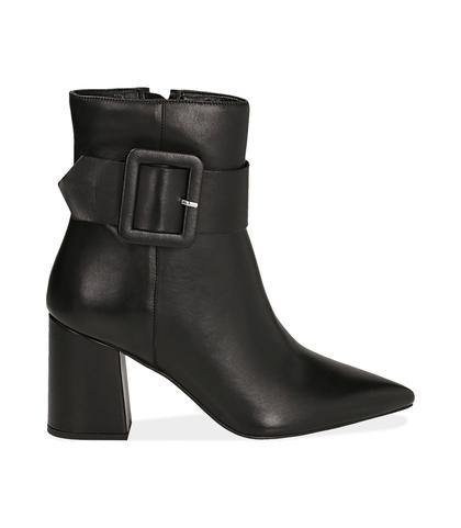 Ankle boots con fibbia neri in pelle di vitello , Valerio 1966, 14D6T0602VINERO035, 001