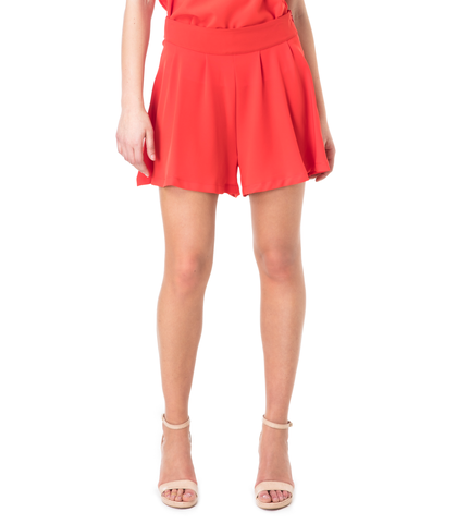 Shorts rosso effetto gonna, 11G7T7639TSROSS40, 002