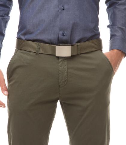 Cintura militare in tessuto intrecciato con fibbia a placca, Accessori, 11F8T0101NYMILIUNI, 002