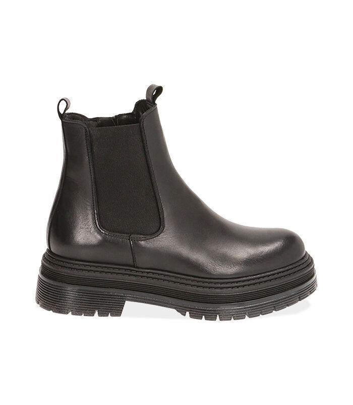 Chelsea boots neri in pelle, tacco 5,5 cm, Valerio 1966, 18L6T1503PENERO035