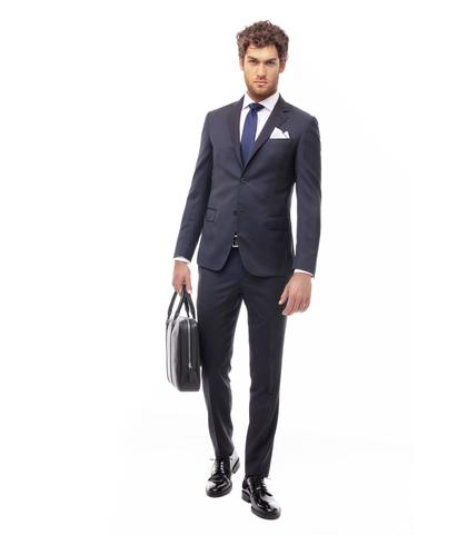 Abito blu cobalto, giacca monopetto, Abbigliamento, 13T1T1815TSBLCO46, 001