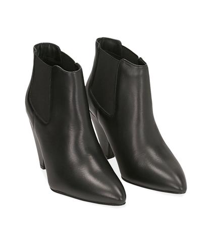 Chelsea boots neri in pelle di vitello , Valerio 1966, 12D6T3910VINERO035, 002