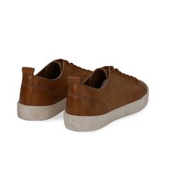 Sneakers cuoio in pelle con suola bianca, Scarpe, 1377T8081PECUOI040, 004 preview