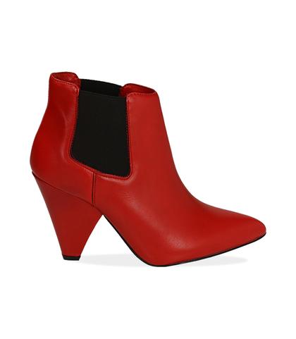 Chelsea boots rossi in pelle di vitello , Valerio 1966, 12D6T3910VIROSS035, 001