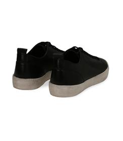 Sneakers nere in pelle con suola bianca, UOMO, 1377T8082PENERO040, 004 preview