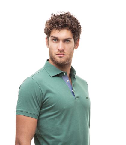 Polo verde in jersey, Valerio 1966, 13I5T0130TSVERD46, 002