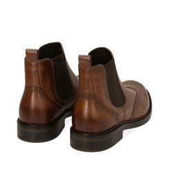 Chelsea boots testa di moro in pelle di vitello, Valerio 1966, 1677T0609VIMORO040, 004 preview