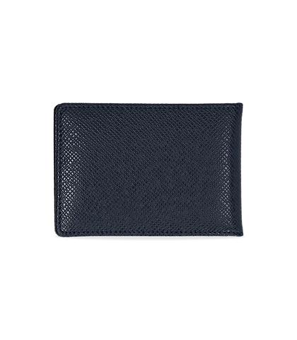 Portafoglio blu in pelle, Accessori, 10A4T1708PEBLUEUNI, 002