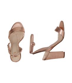 Sandali oro rosa con cinturino alla caviglia, Valerio 1966, 13D6T0703LMRAOR036, 003 preview