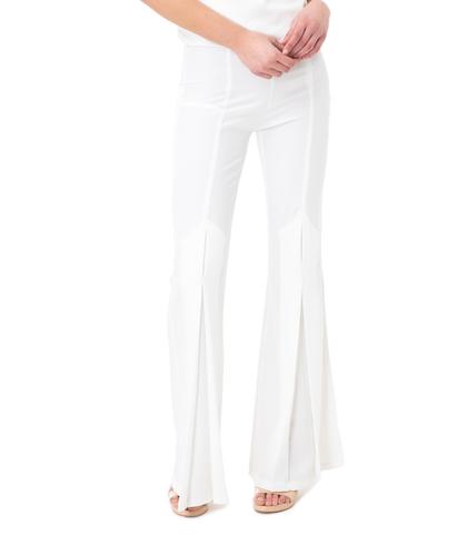Pantalone flared bianco, Abbigliamento, 11G7T7937TSBIAN40, 002