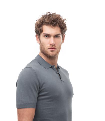 Polo basic grigia in cotone, Abbigliamento, 13T4T2352TSGRIG48, 002