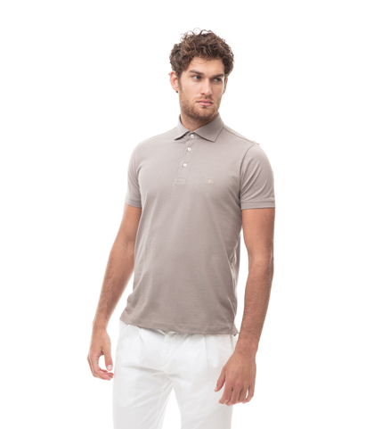 Polo taupe in jersey, Valerio 1966, 13I5T0130TSTAUP46, 001