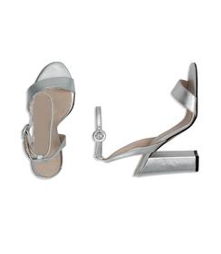 Sandali argento con cinturino alla caviglia, Scarpe, 13D6T0703LMARGE036, 003 preview