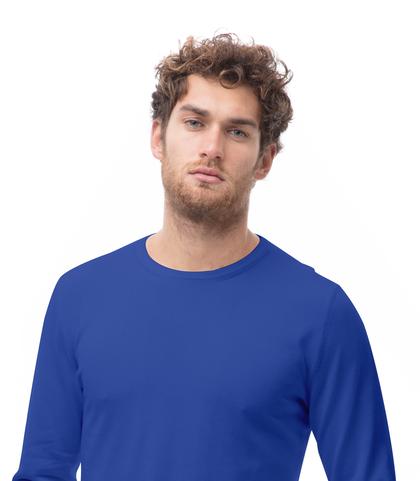 Maglia girocollo blu cobalto in cotone, Abbigliamento, 13T4T2000TSBLCO48, 002