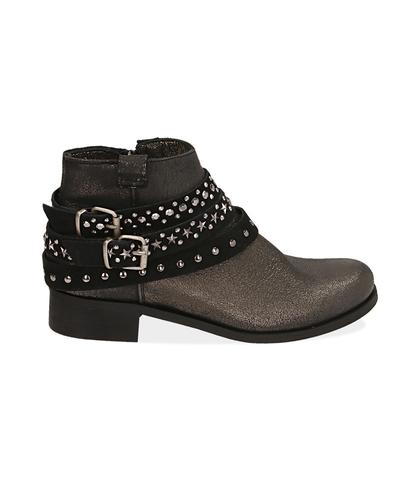 Ankle boots oro in laminato , Valerio 1966, 1056T0035LMOROG035, 001