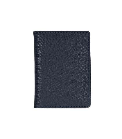Portafoglio blu in pelle , Valerio 1966, 10A4T1701PEBLUEUNI, 001
