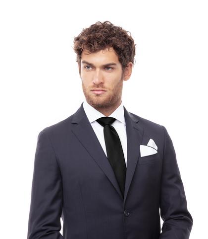 Cravatta nera in seta , Accessori, 09G1T0700TSNEROUNI, 002