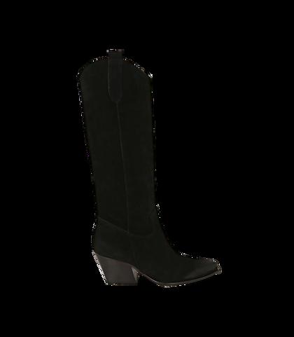 Camperos neri in camoscio, tacco 5,50 cm , DONNA, 16A5T0902CMNERO035, 001