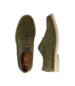 Stringate verde in camoscio, Scarpe, 1198T5610CMVERD040, 003 preview