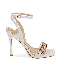 Sandali bianchi, tacco 10,5 cm , Valerio 1966, 1721T4221EPBIAN036, 001 preview