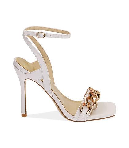 Sandali bianchi, tacco 10,5 cm , Valerio 1966, 1721T4221EPBIAN035, 001